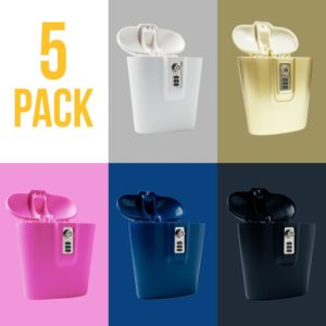 5_Pack_Safego_Lock_Boxes_Black_Pink_Blue_Gold_White
